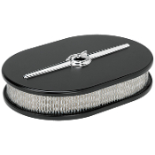"""Streamline"" Small Oval Black Air Cleaner"